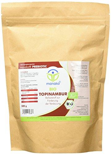 manako prebiotic BIO Topinambur Pulver, 500 g Zipbeutel (1 x 0,5 kg) - 1